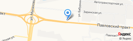 ИЗБА на карте Барнаула