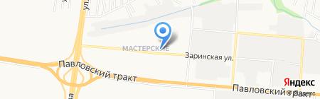 Ангел на карте Барнаула