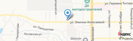 Дионис на карте Барнаула