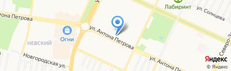 Манжерок на карте Барнаула