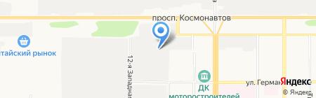 Компания пассажирских перевозок на карте Барнаула