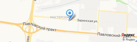 Детский сад №222 Мотылек на карте Барнаула