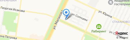 Сонечка на карте Барнаула