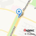 Мадэра на карте Барнаула