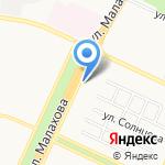 Локон на карте Барнаула