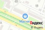 Схема проезда до компании Универсам удачных покупок в Барнауле