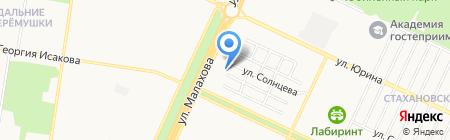 Мирный на карте Барнаула