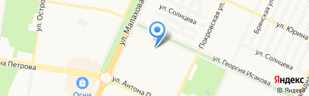Лагуна+ на карте Барнаула