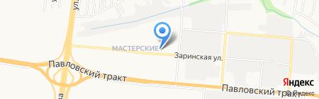 Джинс А на карте Барнаула