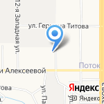 Гора Весёлая на карте Барнаула