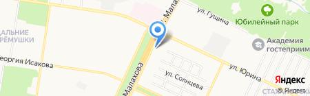 Садовод Алтая на карте Барнаула