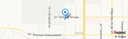 Северная звезда на карте Барнаула