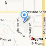 Альтан на карте Барнаула