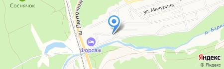 Хаста на карте Барнаула