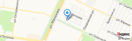 Магазин зоотоваров на карте Барнаула