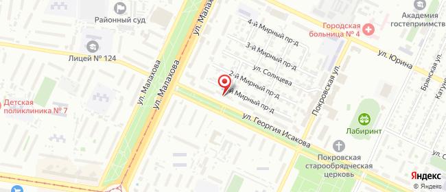 Карта расположения пункта доставки Пункт выдачи в городе Барнаул