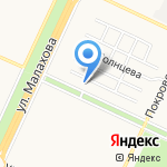 Детский мир на Исакова на карте Барнаула