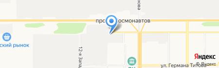 Алтай-навес на карте Барнаула