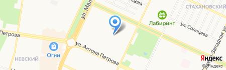 Сварной на карте Барнаула