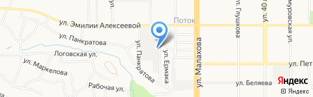 Конструктив на карте Барнаула