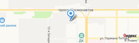 Автосфера на карте Барнаула