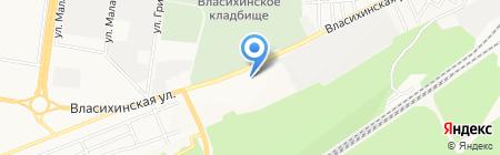 Такси Комфорт на карте Барнаула