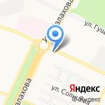 Киоск фастфудной продукции на карте Барнаула