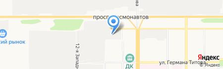 Механик на карте Барнаула