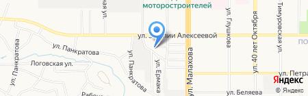Брюс на карте Барнаула