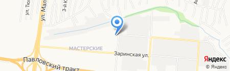 Продуктовый магазин на ул. Бабуркина на карте Барнаула