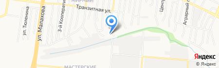 Автосервис на Бабуркина на карте Барнаула