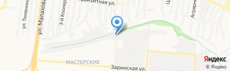 Шиномонтажная мастерская на ул. Бабуркина на карте Барнаула