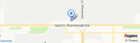 Автомикс на карте Барнаула