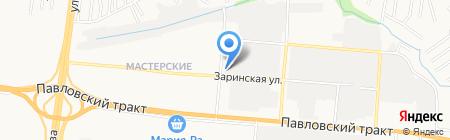 Сибирь на карте Барнаула