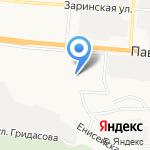 Квартал 1051 на карте Барнаула