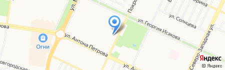 Лицей №73 на карте Барнаула