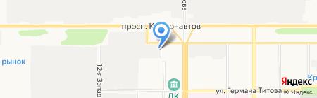 Приветливый на карте Барнаула