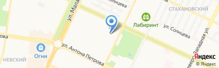 Детский сад №159 на карте Барнаула