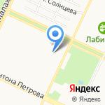 Журавушка на карте Барнаула