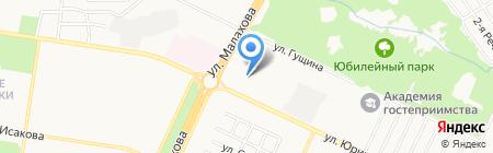 Томоград на карте Барнаула