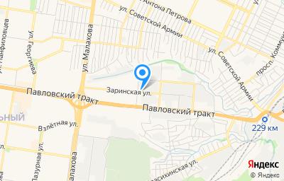 Местоположение на карте пункта техосмотра по адресу г Барнаул, ул Заринская, д 20