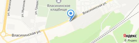Ремарка на карте Барнаула