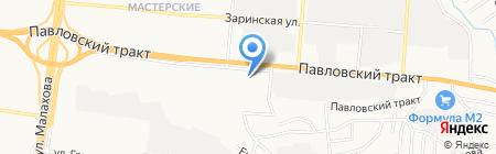 Круассан на карте Барнаула