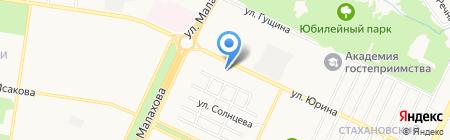 Пожарная часть №4 Ленинского района на карте Барнаула