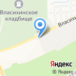 Алфей на карте Барнаула