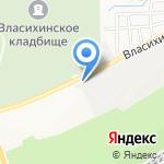 Аркадо-гранит на карте Барнаула