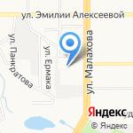 Барнаульская общеобразовательная школа-интернат №4 на карте Барнаула