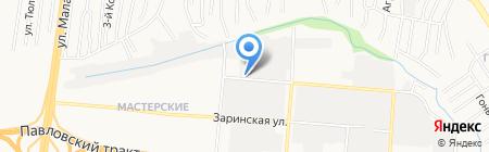 Сандал на карте Барнаула