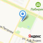 Малярка на карте Барнаула
