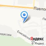 Гаражный кооператив №392 на карте Барнаула